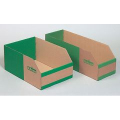 Large Corrugated Cardboard Storage Bins - 200mm high