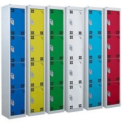 Tool & Battery Charing Lockers with Perforated Doors