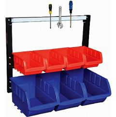Magnetic Bin Racks - Complete with Polypropylene Storage Bins