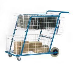 Post Trolley with 2 Baskets
