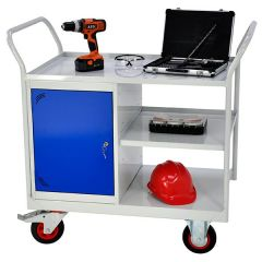 Maintenance Trolleys with 1 Cupboard & 3 Shelves