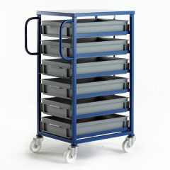 Mobile Tray Racks with Shallow Trays