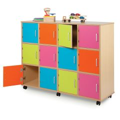 Mobile Wooden School Lockers