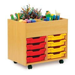 Monarch Book Storage Unit with Kinderboxes & Trays