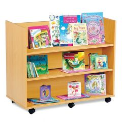 Monarch Library Unit - Double Sided - 3 Straight Shelves on Both Sides