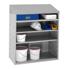 Open Fronted Workstation - Blue Drawer- Sloping