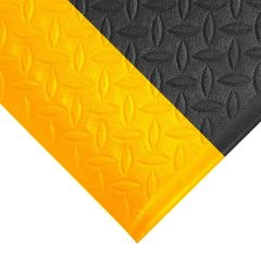 Orthomat Diamond Safety Mat - Black with Yellow Edge