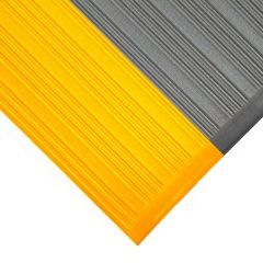 Orthomat Ribbed Safety Mat - Black With Yellow Edges