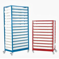 Mobile Tray Racks Complete with Polypropylene Trays