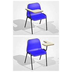 Polypropylene Classroom Chair with Writing Table