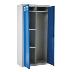 Armour PPE Storage Cupboard with Half Width Rail - 1800 x 900mm - Open