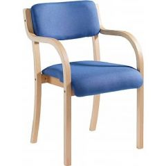 Prague Wooden Frame Upholstered Chairs with Arms