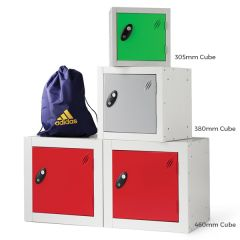 Probe Cube Lockers Shown in 3 Available Sizes