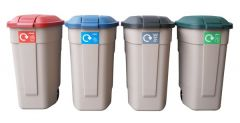 Rubbermaid Recycling Wheelie Bins - Set of 4
