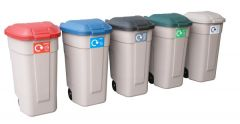 Rubbermaid Recycling Wheelie Bins - Set of 5