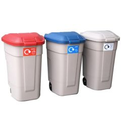 Rubbermaid Recycling Wheelie Bins - Set of 3