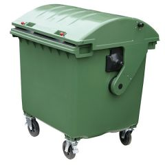 4 Wheeled Roll Top Wheelie Bin - 1100 Litre