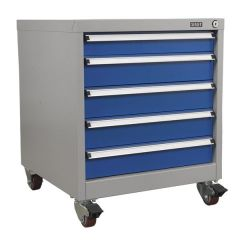 Sealey Premier Mobile 5 Drawer Cabinet - Small to Medium Drawers