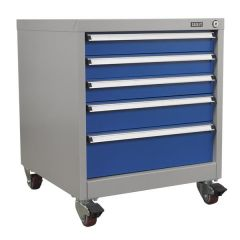 Sealey Premier Mobile 5 Drawer Cabinet - Mixed Size Drawers