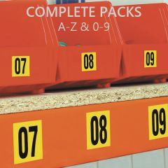 Self Adhesive Complete Packs A-Z & 0-9