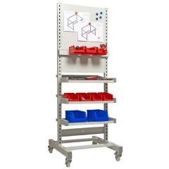 Tilting Shelf & Magnetic Back Panel Trolley-H1450 x W580 x D660mm