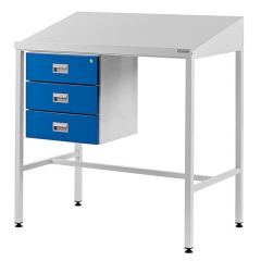 Sloping Top Team Leader Workstations - 3 Drawers