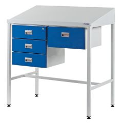 Sloping Top Team Leader Workstations - 4 Drawers