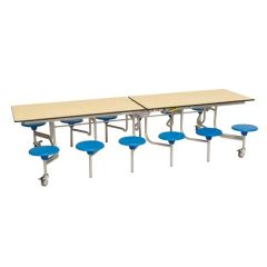 Mobile Folding Rectangular School Table Seating Unit