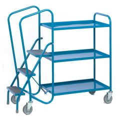 Sprung Loaded Order Picking Trolleys with steel or plywood shelves