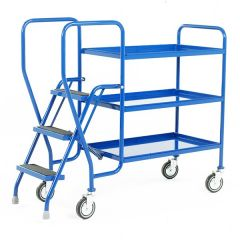 3 Shelf Tray Trolley - 125kg