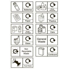 Open Top Recycling Bin - Sticker Graphics