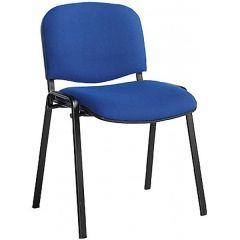 Taurus Fabric Stacking Chairs - Black Blue