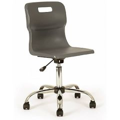 Titan School Swivel Chairs - Charcoal