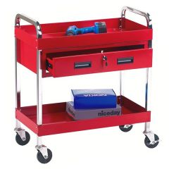 Tool Trolley with Two Shelves and One Drawer