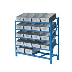 Lineside Racks with galvanised steel tote pans
