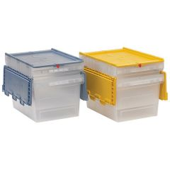 Transport Containers with Multi-Coloured Hinged Lids