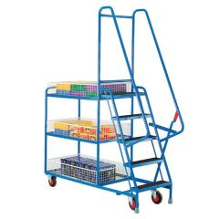 Heavy Duty Step Tray Trolleys - 5 steps
