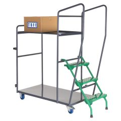 Fully Welded Order Picking Trolleys - 2 Shelf