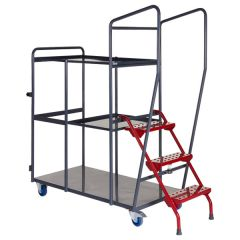 Fully Welded Order Picking Trolleys - 2.5 Shelf