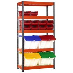 TUFF Shelving Kit with Mixed TC and MF Bins