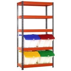 TUFF Shelving Kit with Multi-Functional Bins