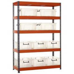 TUFF Shelving Kit with Premium Storage Containers