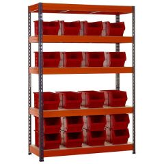 TUFF Shelving Kit with TC5 Bins