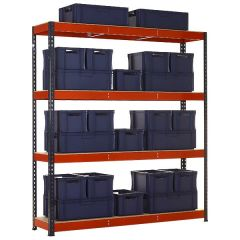 TUFF Shelving Kit with Mixed Euro Containers