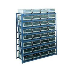 Vista Bin Racks with 32 galvanised vista bins