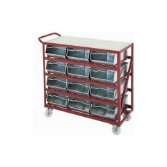 Vista Bin Trolleys with galvanised steel Vista Bins