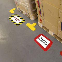 Warehouse Floor Label Holders
