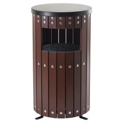 Wooden Effect Covered Bin - Round or Square