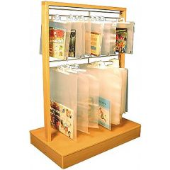 Wooden Hanging Portfolio Bag Display Unit