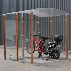 Wooden Pillar Cycle Shelter